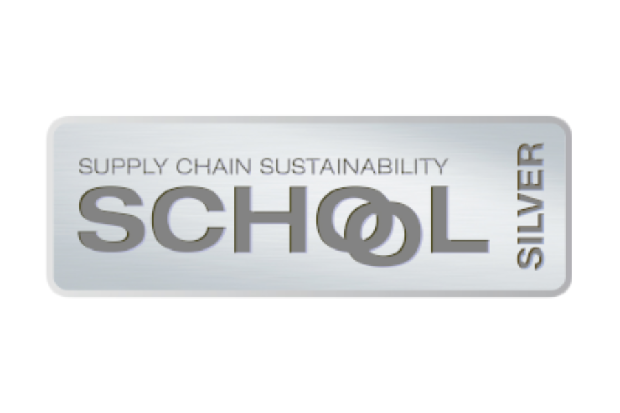Achievement! Silver award from the Supply Chain Sustainability School.